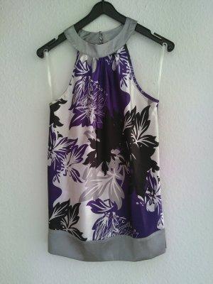 Top Bluse silber lila weiß schwarz Laura Scott