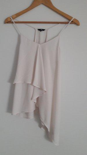 Top Bluse Tunika Creme Weiß Nude 34/36 H&M