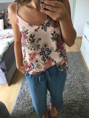 Top Bluse Tunika rosa Blumenprint 36 S Pimkie
