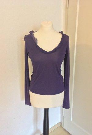 Top Bluse von Hugo boss 100% Seide dunkel violett