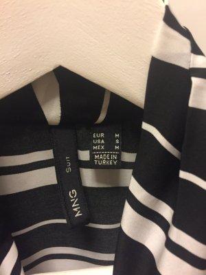 Top/Bluse von Mango, schwarz-weiß, wie neu!