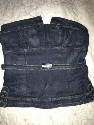 Sportmax Code Bustier Top dark blue cotton