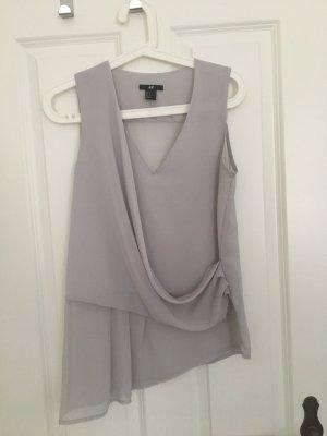 H&M Blouse Top light grey