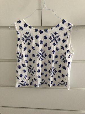 Mango Camisa de mujer blanco-azul