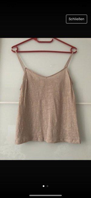H&M Camiseta sin mangas rosa