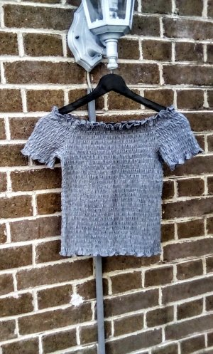 Only Basic Top grey