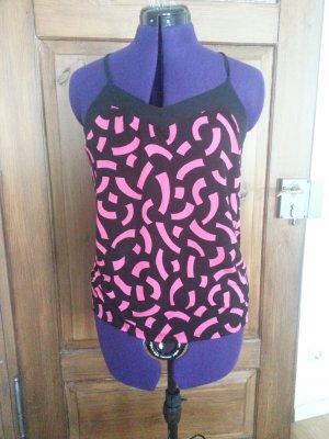 Top Camisole schwarz/pink H&M Gr. S