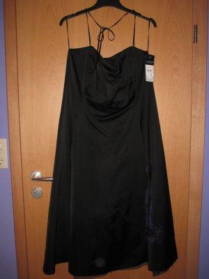 Top Cocktail Kleid für Party Feste Hochzeit - 44 XL - schwarz lila Blume - Marke Sixth Sense - neu mit Etikett