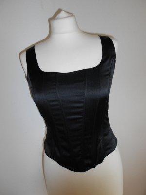 Top / Corsage gr 36 H&M schwarz glänzend