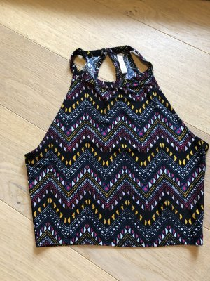 Top Cropped bauchfrei gemustert Gr. XS