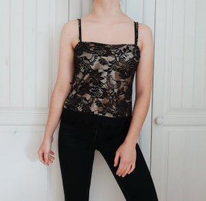 Top Croptop Crop Spitze true vintage Bluse hemd pulli pullover shirt t-shirt tshirt