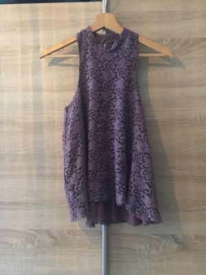 Hollister Lace Top blue violet