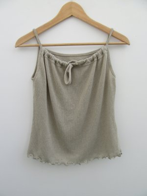 Vintage Basic topje grijs-bruin-khaki