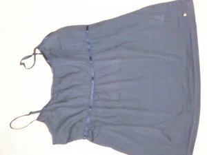 Esprit Empire Waist Top dark blue cotton