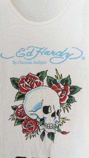 Ed Hardy Basic Top white