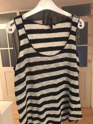 Mango casual Knitted Top black-white