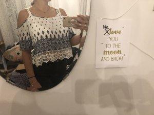 H&M T-shirt court blanc-bleuet