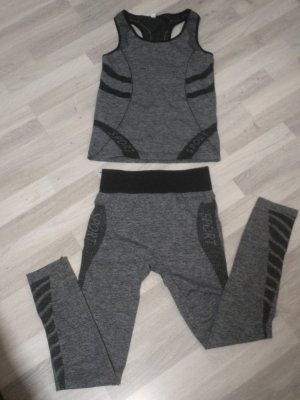 Sporttop zwart-grijs