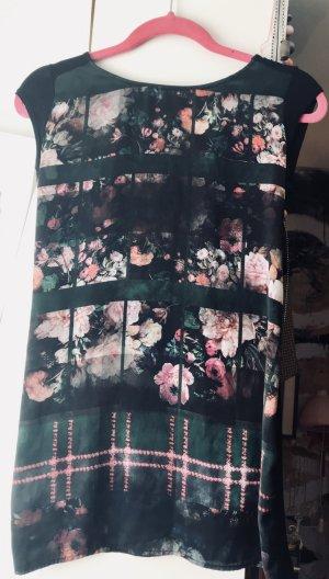 Top Floral Print ärmellos Hippiechic  lässig und elegant S