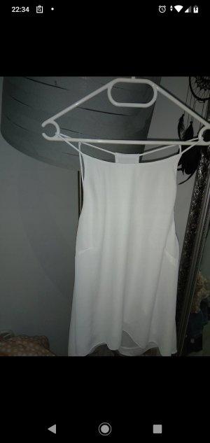 H&M Zijden top wit