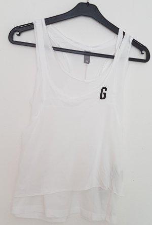 A-lijn top wit-zwart