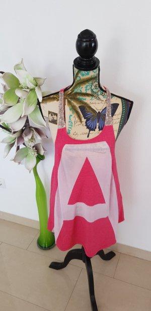 Amisu Strappy Top white-pink
