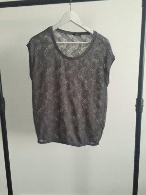 Opus Gehaakt shirt grijs