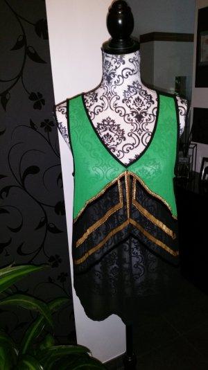 Top#green#black#glitzer