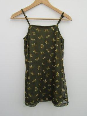 Vintage Top basic verde scuro