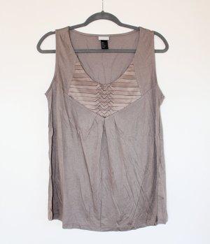 H&M Top línea A marrón grisáceo Viscosa