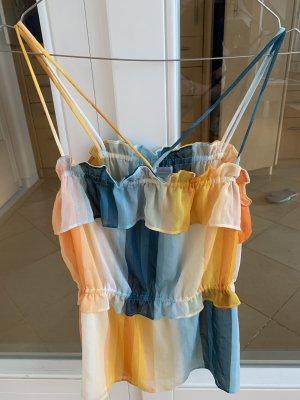 H&M Top con bretelline multicolore