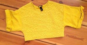 H&M Crop-top jaune-jaune fluo