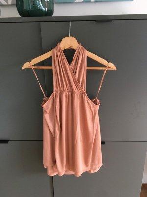 H&M Haltertop donker oranje-neonoranje