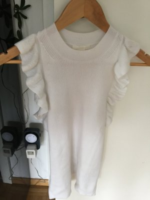 H&M Knitted Top white mixture fibre