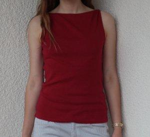 Top  Hochgeschlossenes Rot Shirt schulterfrei