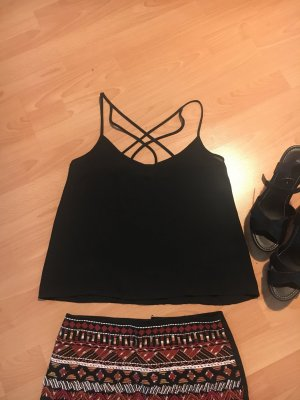 Hollister Off the shoulder top zwart