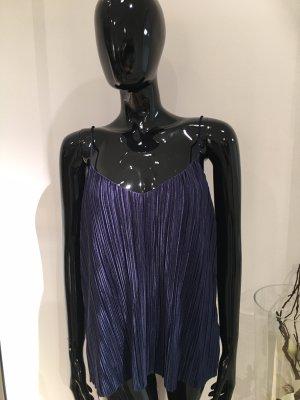 H&M Top de tirantes finos azul oscuro