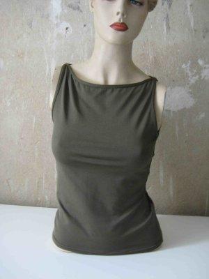 Basic topje groen-grijs Polyester