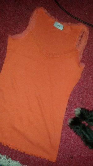Top in Orange mit spitze