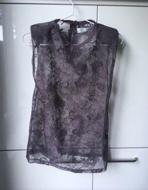 Zara Top di merletto multicolore