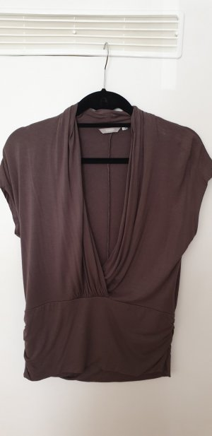 3 Suisses Wraparound Shirt grey brown