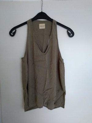 Selected Femme Tanktop groen-grijs-khaki Polyester