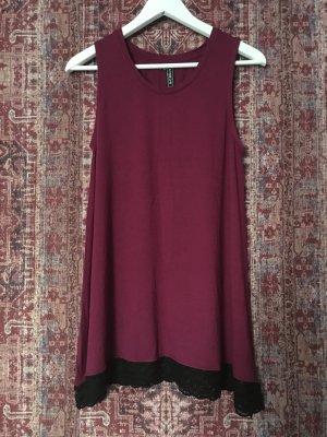Top Kleid Mini Spitze
