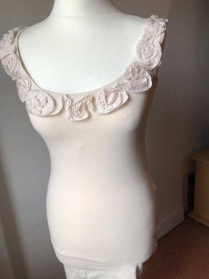 Top/Kleid mit Blumen-Verzierung