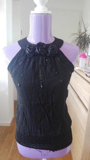 Off the shoulder top zwart Polyester
