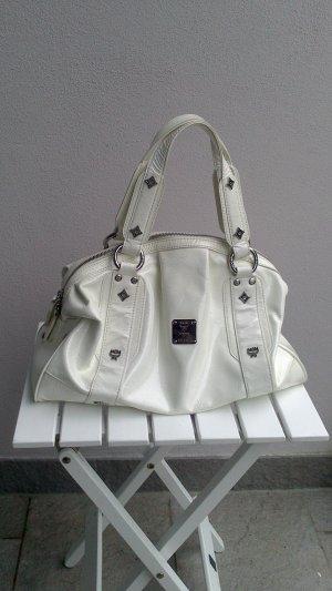 Top Lackleder: Original MCM Handtasche in glänzendem Weiß
