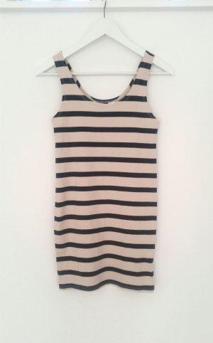 Top Longtop Kleid Nude Schwarz Blogger H&M wie Neu