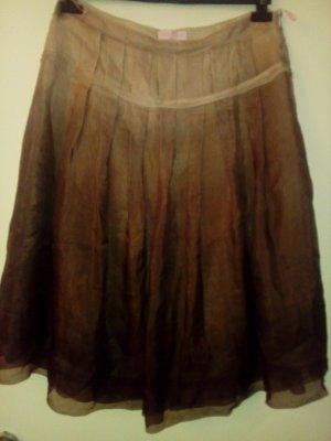 St. emile Zijden rok lichtbruin-bruin