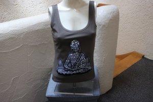 #Top m. Buddha-Applikation, Gr. 36, #khaki, #Neu, #Melrose