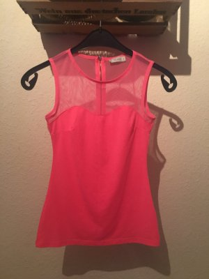 Top Mesh Netz Neonpink Durchsichtig Transparent Urban Sporty Chic Blogger